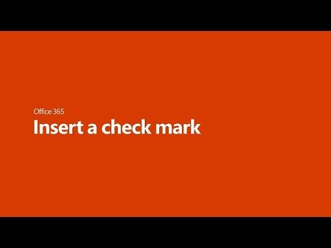 Insert A Check Mark In Microsoft Office