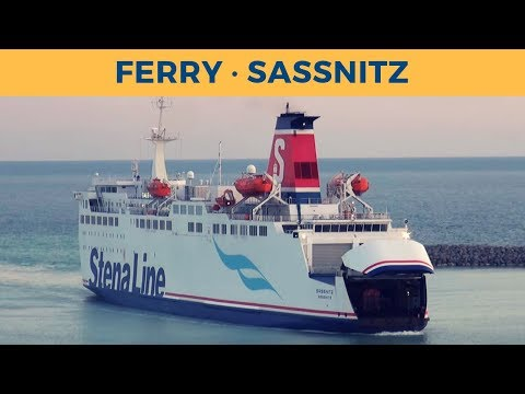 Arrival of train ferry SASSNITZ in Trelleborg