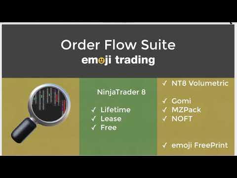 emoji trading: Order Flow Suite for NinjaTrader