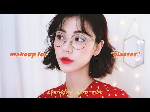 복고 안경 메이크업 👓 MAKEUP FOR GLASSES • RETRO-VIBESㅣJenny Crush - YouTube