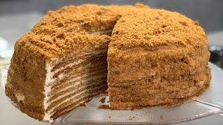 Торт медовик классический со сметанным кремом . Подробный рецепт . Медовик домашний готовит Алена