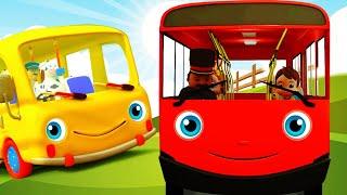 Wheels On The Bus (Pencil Bus) + More Nursery Rhymes & Kids Songs | Minibus