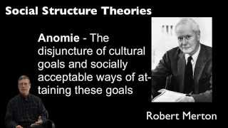 Gary Copus Justice 110 1.33: Social Structure Theory