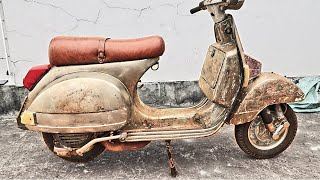 Restoration of 1982 VESPA 150cc | Repaint and Restoration Old and Rusted MOTORCYCLE
