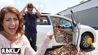100,000 LEGO BRICKS IN CAR PRANK! - REBRICKULOUS
