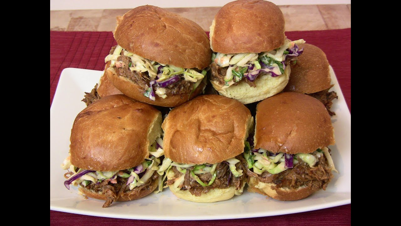 Super Bowl Recipe: BBQ Pulled Pork Sliders w/ Creamy Cole Slaw |Cooking With Carolyn