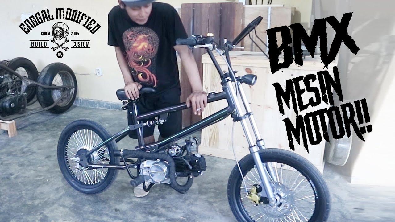 Bmx Cub Bmx Dikasih Mesin Motor Youtube