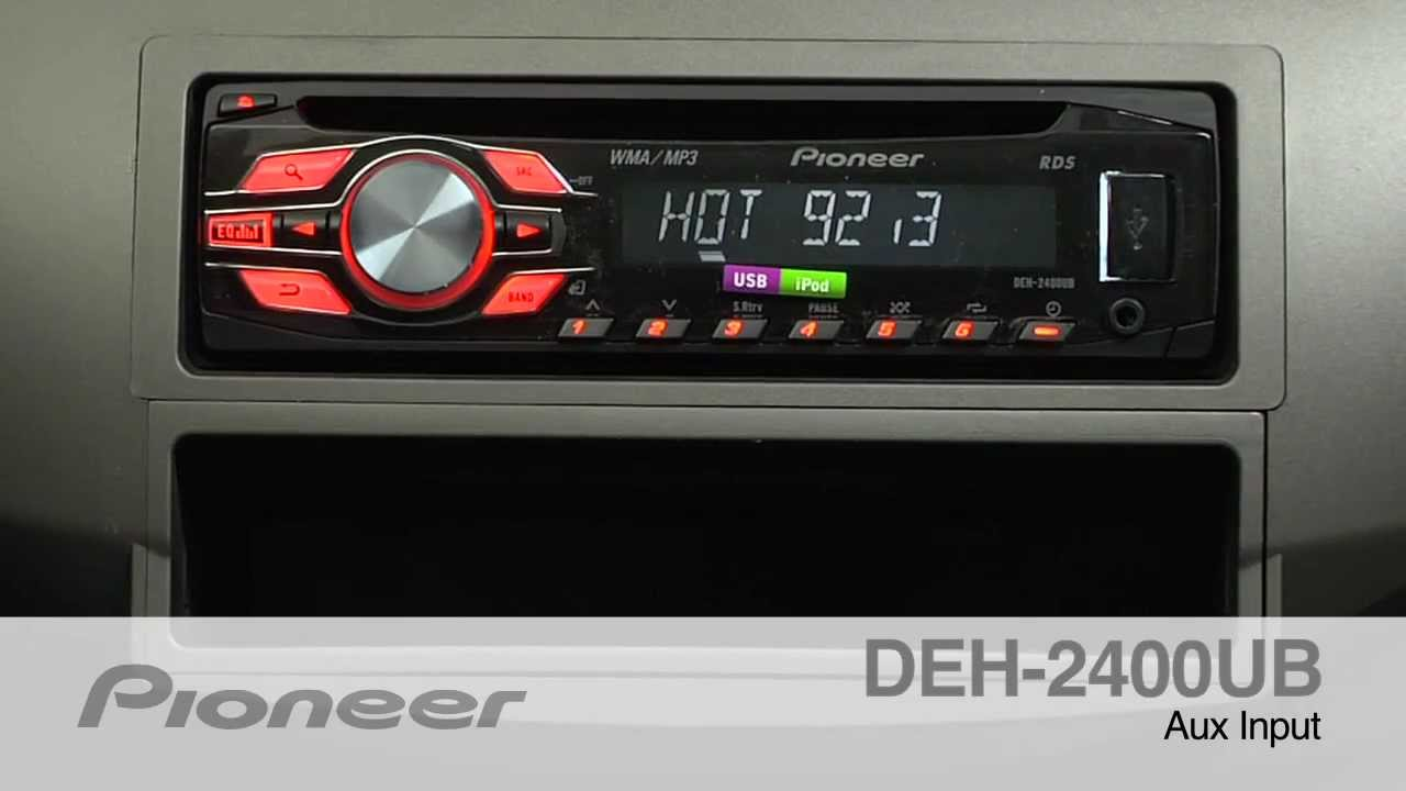 how to deh 2400ub auxiliary input youtube rh youtube com pioneer rds deh-2400ub manual pioneer vsx- 906rds manual