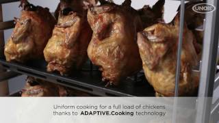 How to roast chickens with CHEFTOP MIND.Maps™ Plus combi oven and UNOX Pollo.system