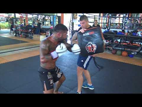 Bruno Miranda training boxing with Jesse Sanchez