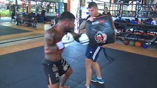 Bruno Miranda training boxing with Jesse Sanchez