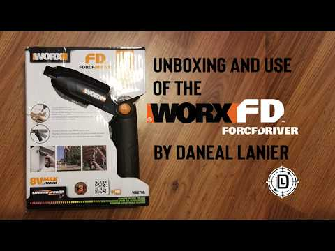 Worx ForceDriver unboxing and use