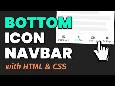 How To Create A Bottom Icon Navigation Menu - HTML & CSS Tutorial