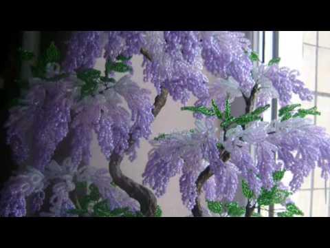 Большие деревья из бисера