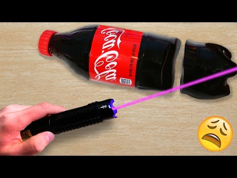 Thumbnail: EXPERIMENT MOST POWERFUL LASER VS GUMMY COCA COLA
