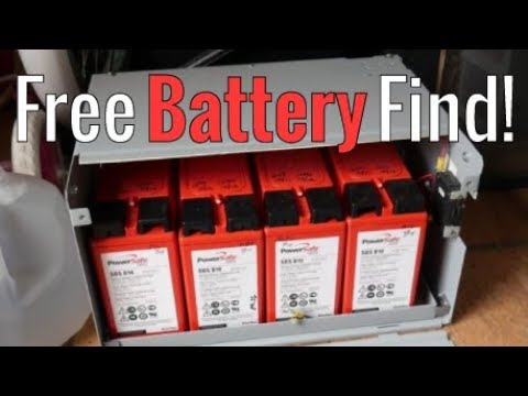 Free Battery Find!  Salvaged Telco Batteries