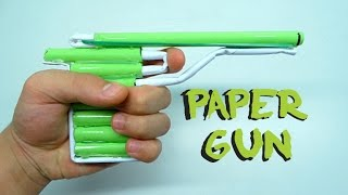 How To Make a Paper Gun that Shoots | DIY