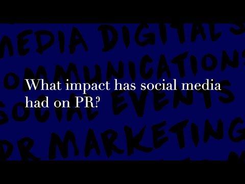 Agency B&Co, What impact has social media had on PR?