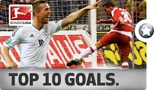 Lukas Podolski - Top 10 Goals – A Tribute to One of the Greats