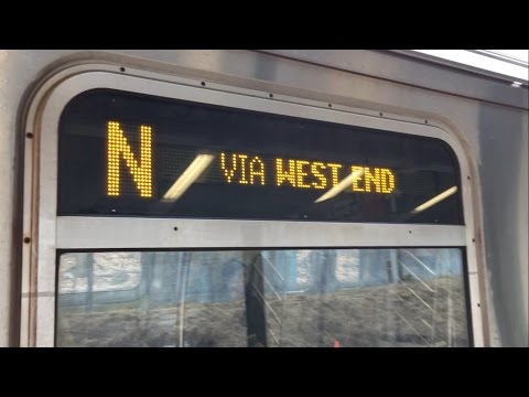 BMT West End Line: On board R160 (N) Train via West End Exp from Coney Island to 9th Ave