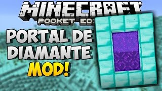 PORTAL DE DIAMANTE MOD | Mods Para Minecraft PE 0.14.0