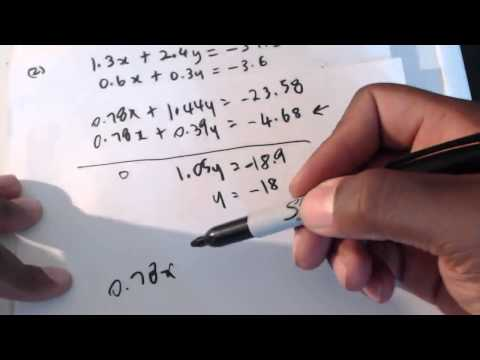CSEC CXC Maths: How To Solve Simultaneous Equations, Elimina