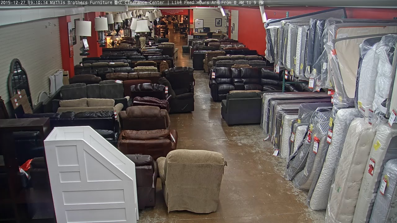 Mathis Brothers Furniture Okc Clearance Center Live Feed Hours Are From 8 Am To 9 Pm Youtube