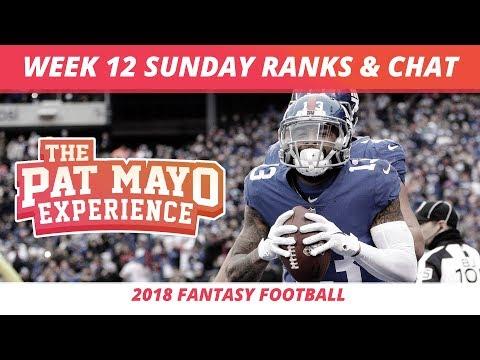2018 Fantasy Football Rankings Update Live Week 12 Draftkings Picks
