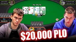 $20,000 PLO  - Railing HIGH STAKES CASH Games on PokerStars