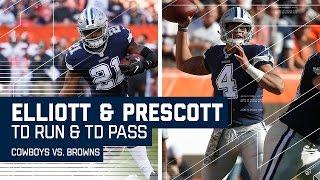 Ezekiel Elliott & Dak Prescott Score TDs to Break the Game Open! | Cowboys vs. Browns | NFL