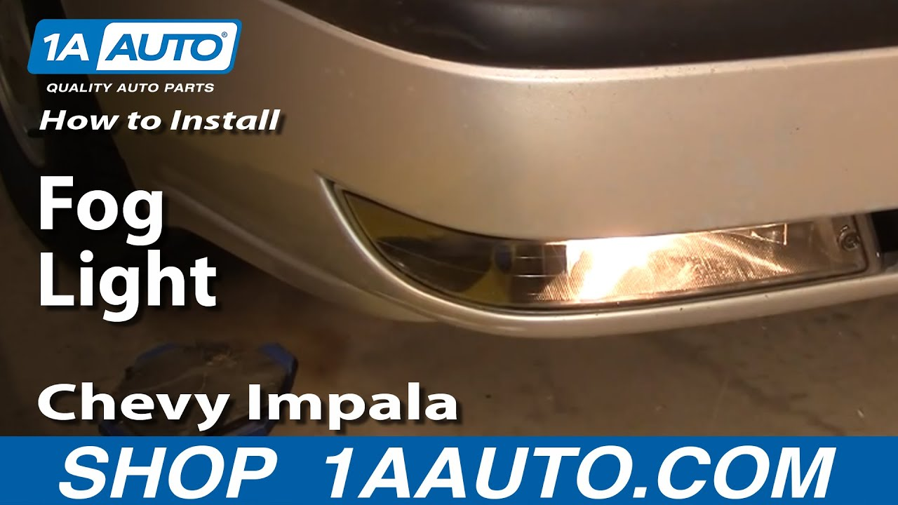 hight resolution of how to replace fog driving light 00 05 chevy impala