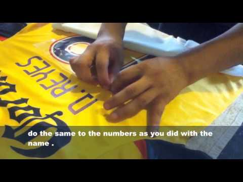 How to Heat Transfer Jersey numbers Hot Clothes Iron