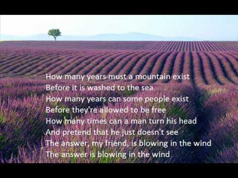 Blowin in wind lyrics