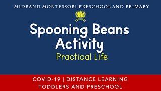 Montessori Practical Life Presentation - Spooning Beans