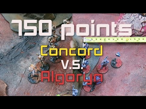 Beyond the Gates of Antares - 750pts Concord VS Algoryn Battle Report