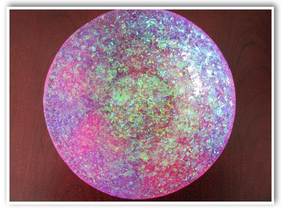 glitter arts and crafts ideas diy glam resin glitter bowl how to craft klatch 6639