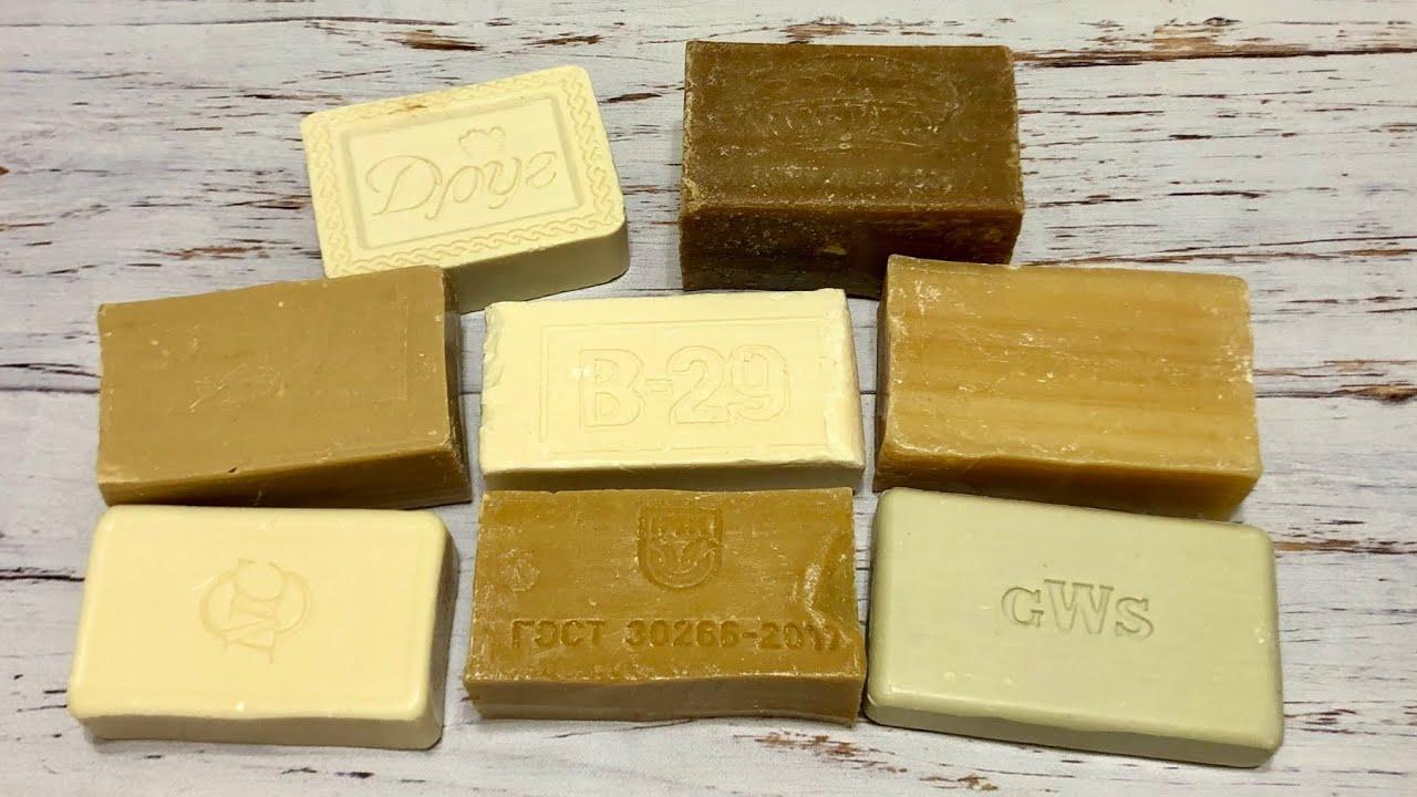 ASMR Soap/ cutting dry laundry soap/ резка сухого хозяйственного мыла