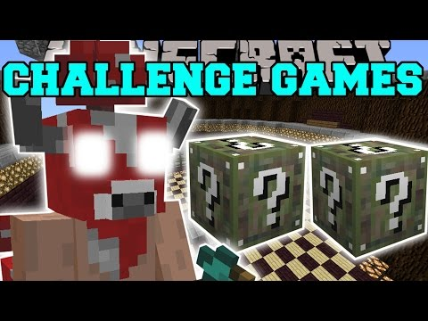 Minecraft: MINOSHROOM CHALLENGE GAMES - Lucky Block Mod - Modded Mini-Game