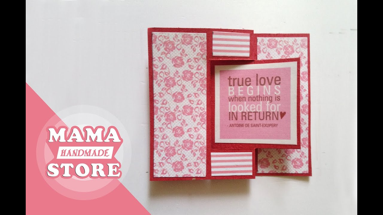 Swing card tutorial flip card how to make card scrapbook youtube swing card tutorial flip card how to make card scrapbook m4hsunfo