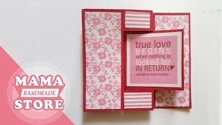 Swing Card Tutorial | Flip Card | How to make card | Scrapbook