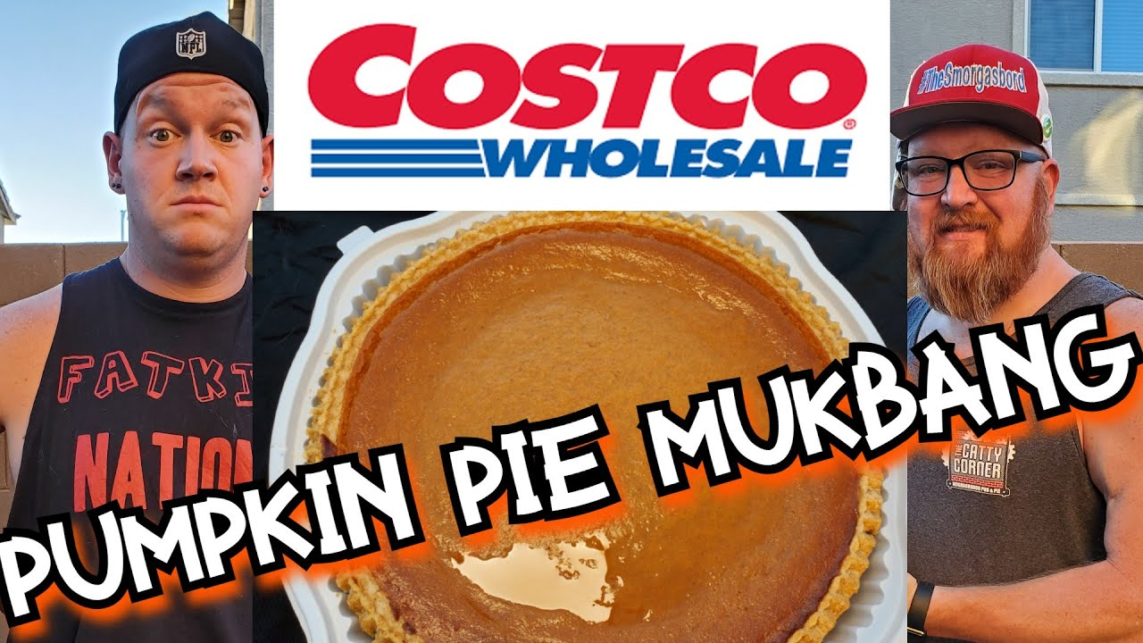GIANT COSTCO PUMPKIN PIE MUKBANG WITH GEORGE CHIGER