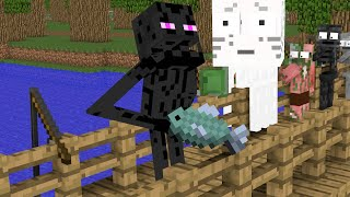 Monster School : Tank Shoot + Fishing + Brewing Super Heroes - Funny Minecraft Animation