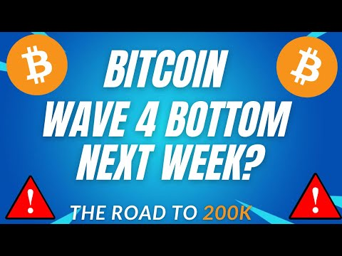 WAVE 4 BOTTOM NEXT WEEK? - BTC PRICE PREDICTION - SHOULD I BUY BTC - BITCOIN FORECAST 200K BTC