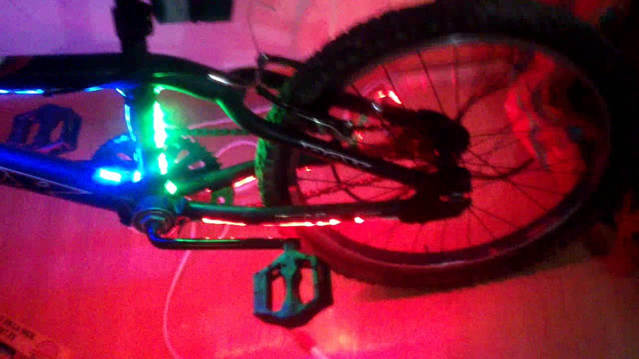 Bici tuning tiras led y pito youtube - Luces led en tiras ...