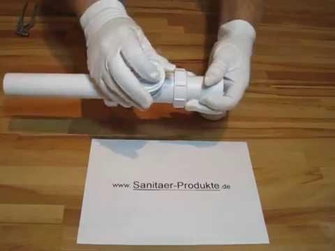 Ruckstauklappe Dn 40 Einbau Reinigung Montageanleitung Youtube