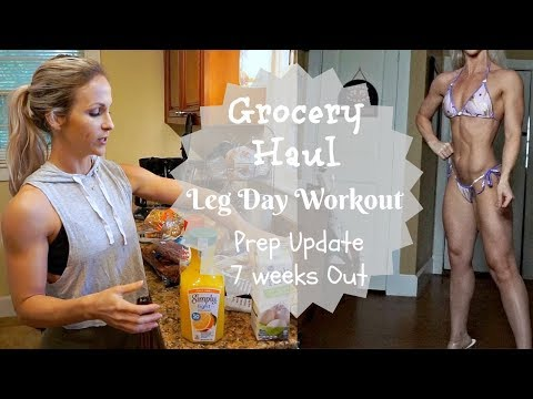 GROCERY HAUL | Leg Day Workout | Bikini Prep Update