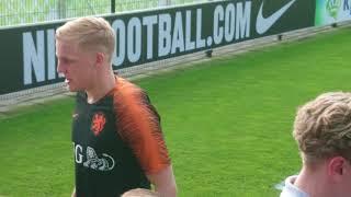 Eerste Open trainingskamp van Oranje op het KNVB-centrum in Zeist op zondag 20-05-2018