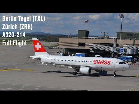 SWISS Flight LX969 | Full Flight | Berlin Tegel - Zürich  | A320