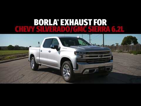 borla exhaust for 2019 2021 chevrolet silverado gmc sierra 1500 6 2l exhaust sounds