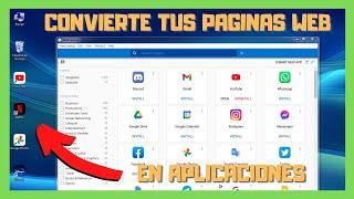 🌐 Convierte tus paginas web en aplicaciones de escritorio [2021]
